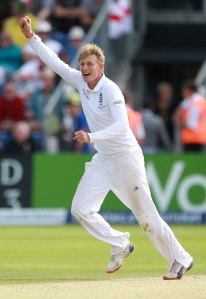 Joe Root of England celebrates as Adam Lyth catches Mitchell Johnson.