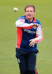 EoinMorgan during fielding practice at The SSE SWALEC.